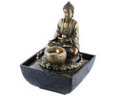 Fontaine d'intérieur lumineuse Bouddha