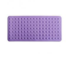 Tapis de bain casa pura® Emily ultra antidérapant | pour baignoire, douche - 3 coloris | sans PVC/latex - fonction antiglisse | taille 35x75cm, lilas