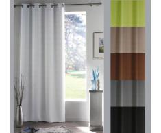 Rideau de fenêtre occultant - 140 x 180 - Oeillets Gris