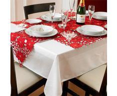 Riva Paoletti Napperon Scroll Poinsettia - rouge - 83 x 83 cm