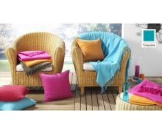 Nuances du Monde 3006694 Jeté de Canapé Polyester Turquoise 180 x 220 x 220 cm