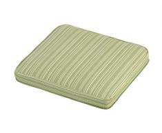 IM Leisure Coussin rectangulaire à rayures en matières mixtes Vert Grande taille