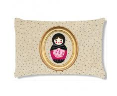 Coussin rectangulaire Poupee russe pois by CBK