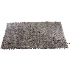 Gözze, tapis à poils longs, antracite, 60x100 cm, 100% coton, excellente qualité, 1 800 g/m², Standard 100