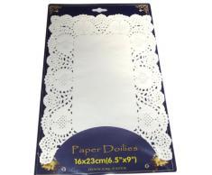 parquet de 20 napperon de table en papier RECTANGULAIRE 16 X 23 cm serviette