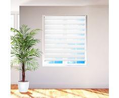 TecTake® Store enrouleur - 140 x 175 cm - blanc