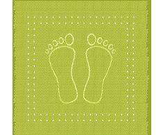 Kleine Wolke 4388615002 Foot Tapis de Douche en PVC Vert 55 x 55 cm