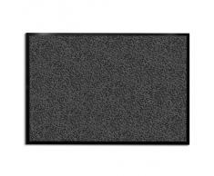 Tapis d'entrée casa pura® anthracite-noir | très absorbant + lavable | plusieurs tailles au choix - 90x120cm
