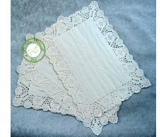 """napperon papier dentelle blanc pour gateau 25x35cm (10""""x14"""") lot de 12 pièces/paquet"""
