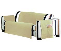 Eysa Housse de canapé 3 Places Lona Liso Couleur 01, 65% Coton 35% Polyester, Gris, 1,5 m