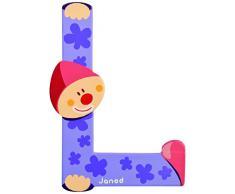 Lettre décorative clown en bois - L