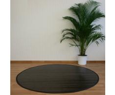 Tapis rond en bambou Brun foncé 180 cm -PEGANE-
