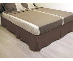 Cache sommier plateau 3 plis 160x200 cm chocolat