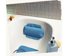Spirella 1070525 Coussin de baignoire pour la nuque Alaska Bermuda, 32 x 23 cm