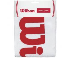 Wilson Serviette de Sport, Sport Towel, Blanc/Rouge, WRZ540100