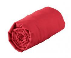 Douceur dIntérieur Drap Housse Uni 100% coton Jersy Rouge 160 x 200 cm