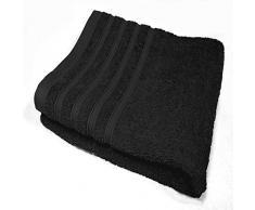 Douceur d'Intérieur 1800465 Vitamine Serviette de Toilette 450 g Coton Uni Noir 50 x 90 x 90 cm