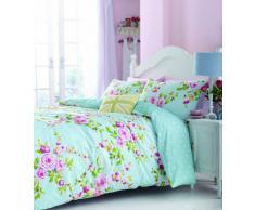 Catherine Lansfield Home Parure Housse de Couette 2 Personnes Canterbury avec Motif Floral - Multicolore - 200 x 200cm