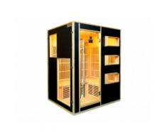 SALDI - Sauna a infrarossi 3/4 posti Gamma prestige MIKELI III - Nero