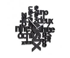 UMBRA - Horloge murale noire design umbra lingua