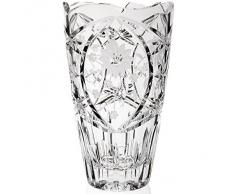 """Vase, Vase en cristal, collection """"JAPAN"""" 25 cm, transparent, faite à la main, cristal, style moderne (GERMAN CRYSTAL powered by CRISTALICA)"""