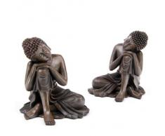 Fish Around Statuette de bouddha thaï Position la tête sur les genoux