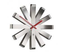 Umbra Ribbon horloge murale acier brossé nickel 30 cm