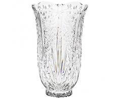 """Vase, vase en cristal, collection """"CUBA"""", 23 cm, fait à main, transparent, cristal, style moderne (GERMAN CRYSTAL powered by CRISTALICA)"""