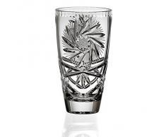 """Vase, vase en cristal, collection """"LINA"""", 15,5 cm, fait à main, transparent (GERMAN CRYSTAL powered by CRISTALICA)"""