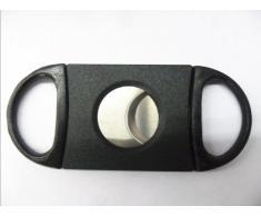 niceeshop(TM) Ovale Coupe-cigare en Acier Inoxydable avec Double Lame, Noir