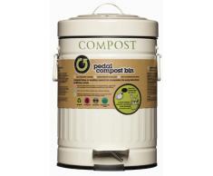 """Kitchen Craft Poubelle à pédale """"Compost"""" 3 L"""