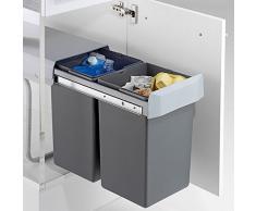 Une poubelle encastrable pratique et discr te livingo - Poubelle cuisine porte placard ...