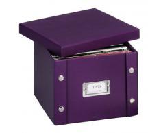 Zeller 17791 Boite de rangement en carton pour DVD, 21,5 x 20,5 x 15 cm, violet