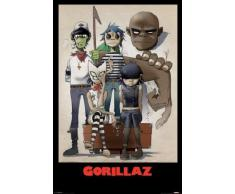 1art1 52887 Poster Gorillaz Plastic Beach 91 x 61 cm