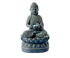 """""""BOUDDHA"""" petite fontaine d'intérieur relaxante et zen, coloris gris (réf. 14308)"""