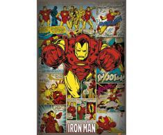 1art1 59903 Poster Iron Man Retro Marvel Comics 91 x 61 cm
