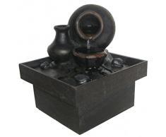 Zen Light SCFRPF7 Pot Fontaine dIntérieur Marron/Noir 13 x 13 x 15 cm