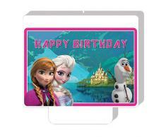 Disney Bougie danniversaire Motif La Reine des neiges