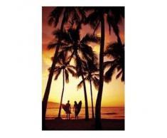1art1 Surf Poster - Coucher De Soleil - Plage (91 x 61 cm)