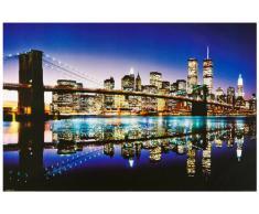1art1 43768 Poster New York Brooklyn Bridge Couleur 91 X 61 cm