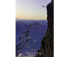1art1 49294 Poster Motivation Courage LAngoisse Ne Peut Pas Devenir Plus Forte Que LEsprit Le Permet 91 x 61 cm