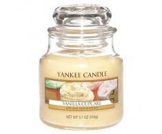 Yankee Candle 1093709E Bougie parfum Gâteau à la vanille Petite jarre, Verre, Jaune