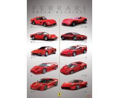 1art1 49654 Poster Ferrari Voitures de Rêves Dream Machines 91 x 61 cm