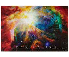 1art1® 48900 Poster Motivation Imagination Galaxie Nébuleuse 91 X 61 cm