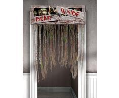 Zombie Morceaux Rideau De Porte Halloween Déco De Fête gris 140x97cm