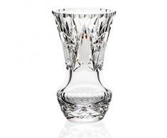 "Vase, vase en cristal, collection ""VIRNA"", 15 cm, fait à main, transparent (GERMAN CRYSTAL powered by CRISTALICA)"