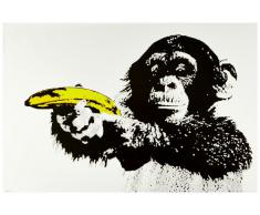 1art1 51479 Poster Singes Just Shoot Me Pistolet-Banane 91 x 61 cm