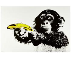 1art1 51479 Poster Singes Just Shoot Me Pistolet-Banane 91 x 61 cm