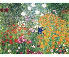 Gustav Klimt Papier Peint Photo/Poster - Jardin De Fleurs, 1906-08, 2 Parties (240 x 180 cm)