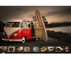 1art1 56567 Poster Voitures Bus VW Planche de Surf Détails Cockpit 91 x 61 cm